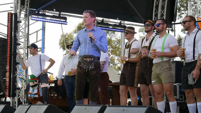 Opening of Oktoberfest in the Gardens Adelaide!
