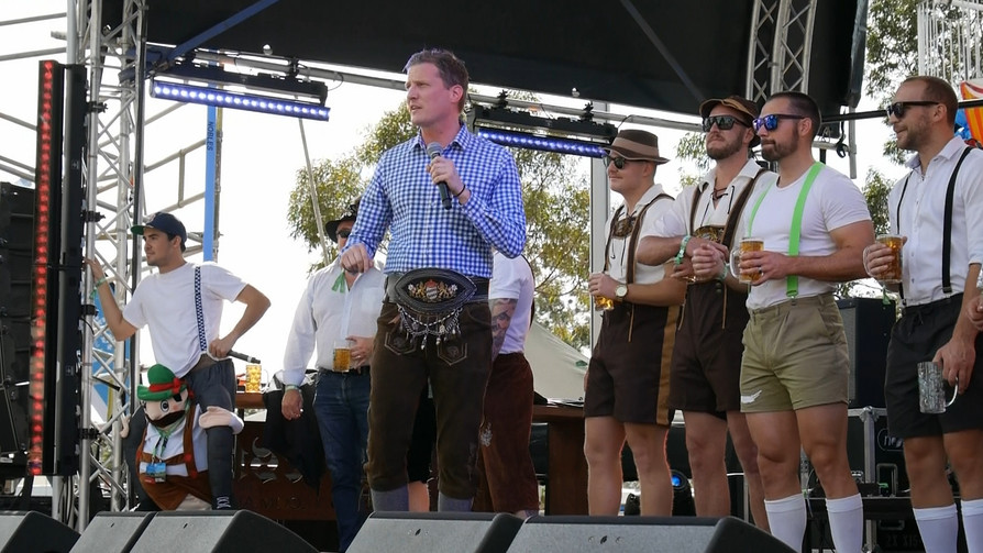 Opening of Oktoberfest in the Gardens Adelaide!