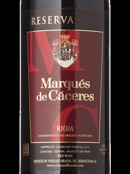 Marqués de Cáceres, Rioja - Red Reserva