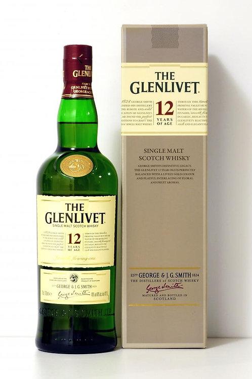 Glenlivet 12 yr Single Malt - 750ml