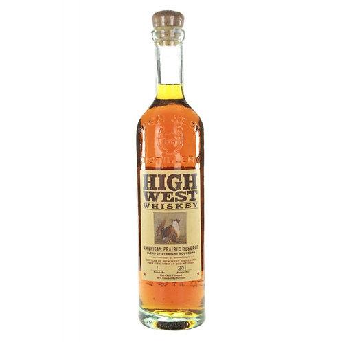 High West - Prairie Burbon