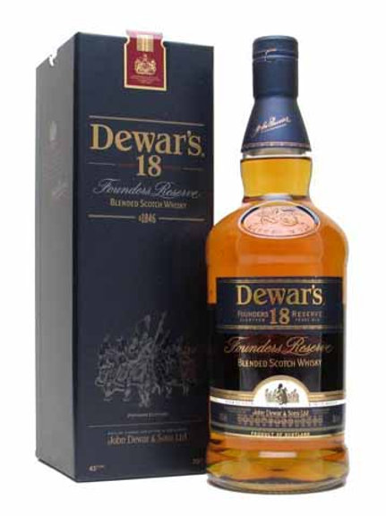 Dewar's 18 yr Founders Reserve Scotch