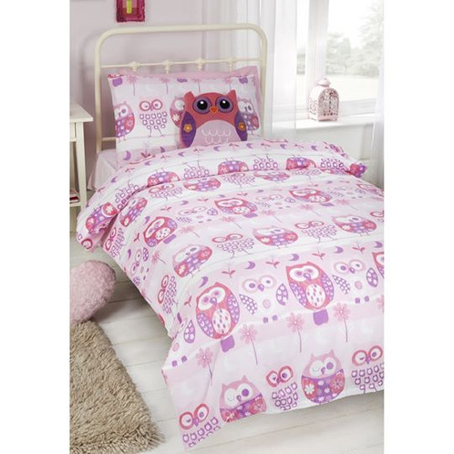 pillow cartoon set married duvet owl s sham sets with couple cover shams fun