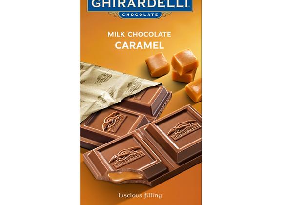 GHIRARDELLI  CHOCOLATE BAR CARAMEL - MILK, 3.5oz