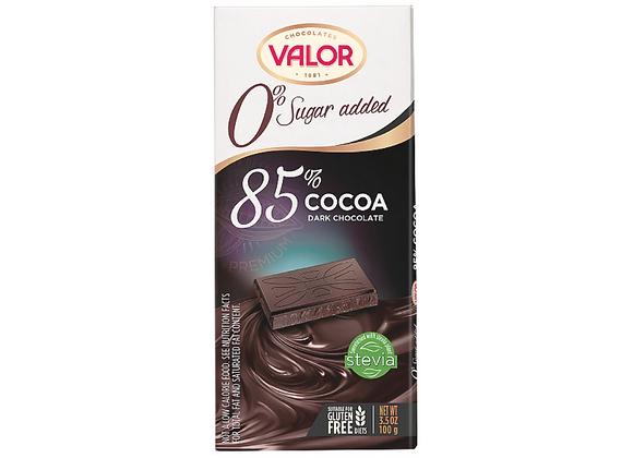 VALOR NSA CHOCOLATE BAR - 85% DARK