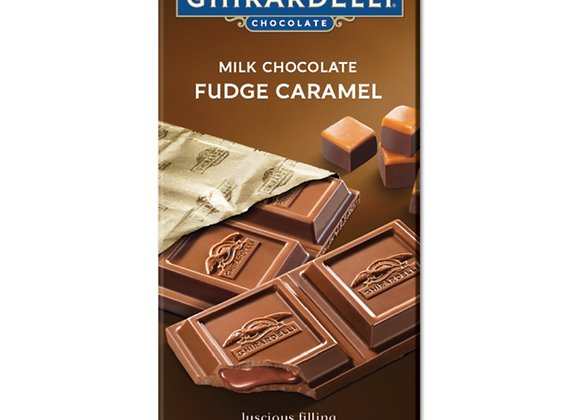 GHIRARDELLI CHOCOLATE BAR FUDGE CARAMEL - MILK