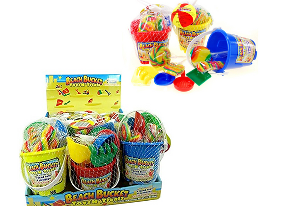 BEACH BUCKET TOYS N TREATS 1.48OZ