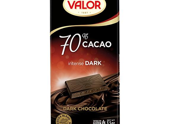 VALOR CHOCOLATE BAR - 70% DARK