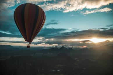 Hot air balloon in Laos