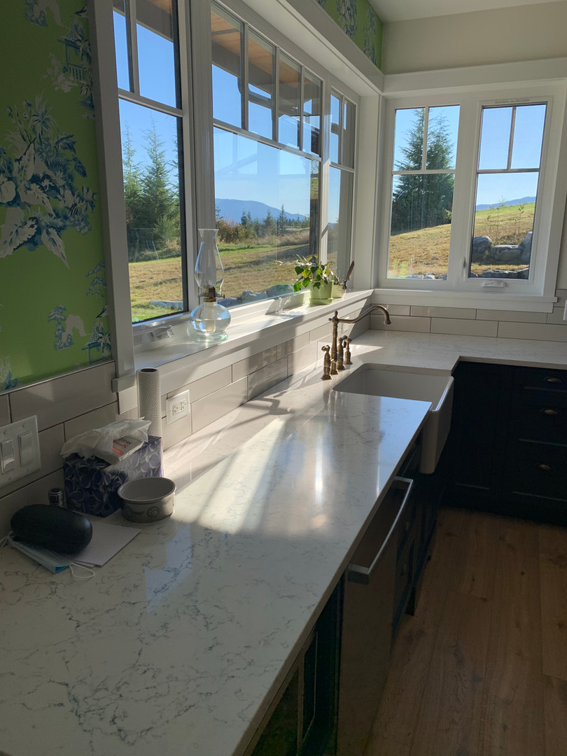 Kitchen sink and window