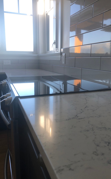 Stove and counter top