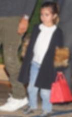 Dascha Polanco with Morgan Clifford's coat