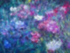 Holly Zandbergen detail Bloom - oil pain