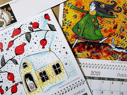 Комплект календари за 2021 г.