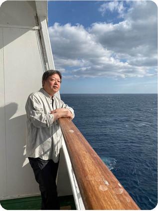 忙しい日々の中、いきなり船上での、のんびりとした日々を過ごすことになりました。