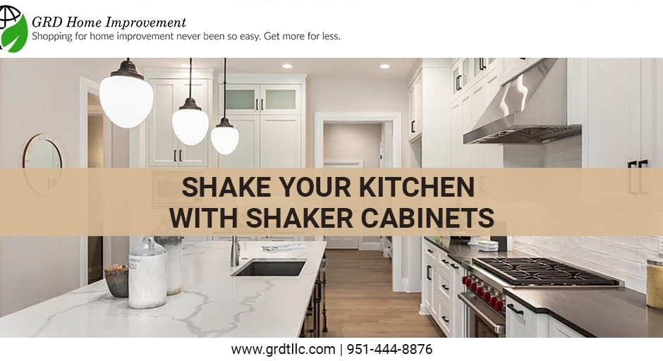 Shake your kitchen with shaker cabinets