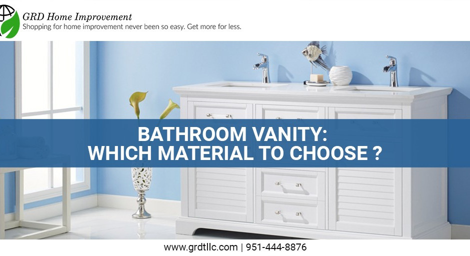 Bathroom vanity: which material to choose?