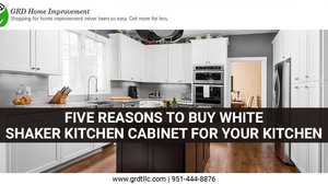 Five Reasons to Buy White Shaker Kitchen Cabinet for Your Kitchen