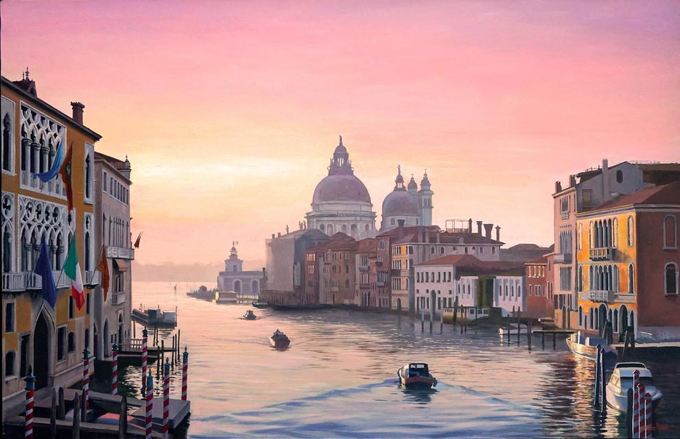 Amanecer en Venecia.