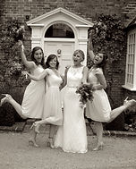 Cornwall bride and bridesmaids