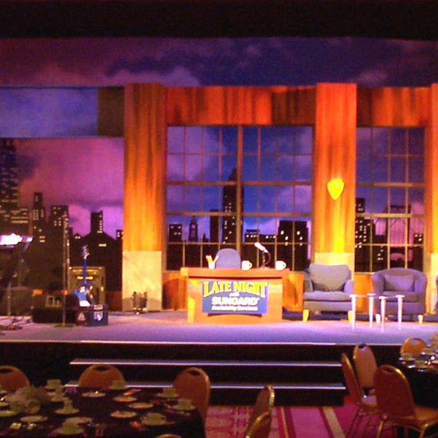 Late Night Show parody set  Production Co: Corporate Dimensions Ltd