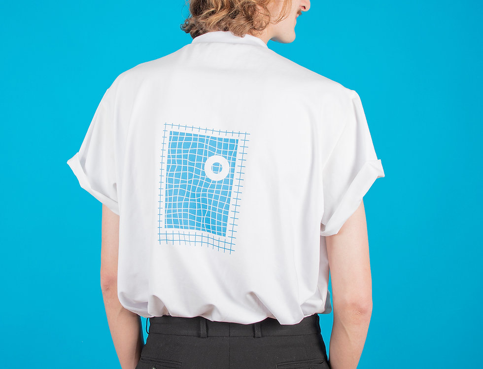 Extra bleu ciel / T-shirt blanc