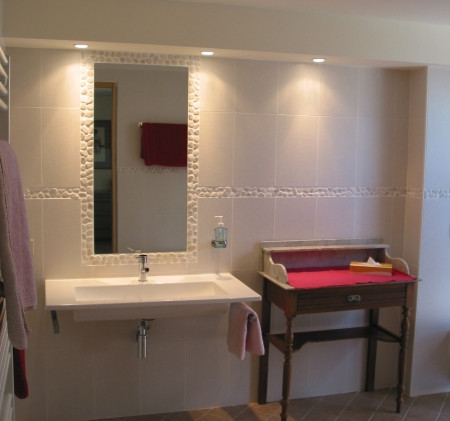 Bathroom designed for persons with disabilities