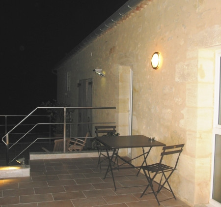 A small terrasse in front of the room