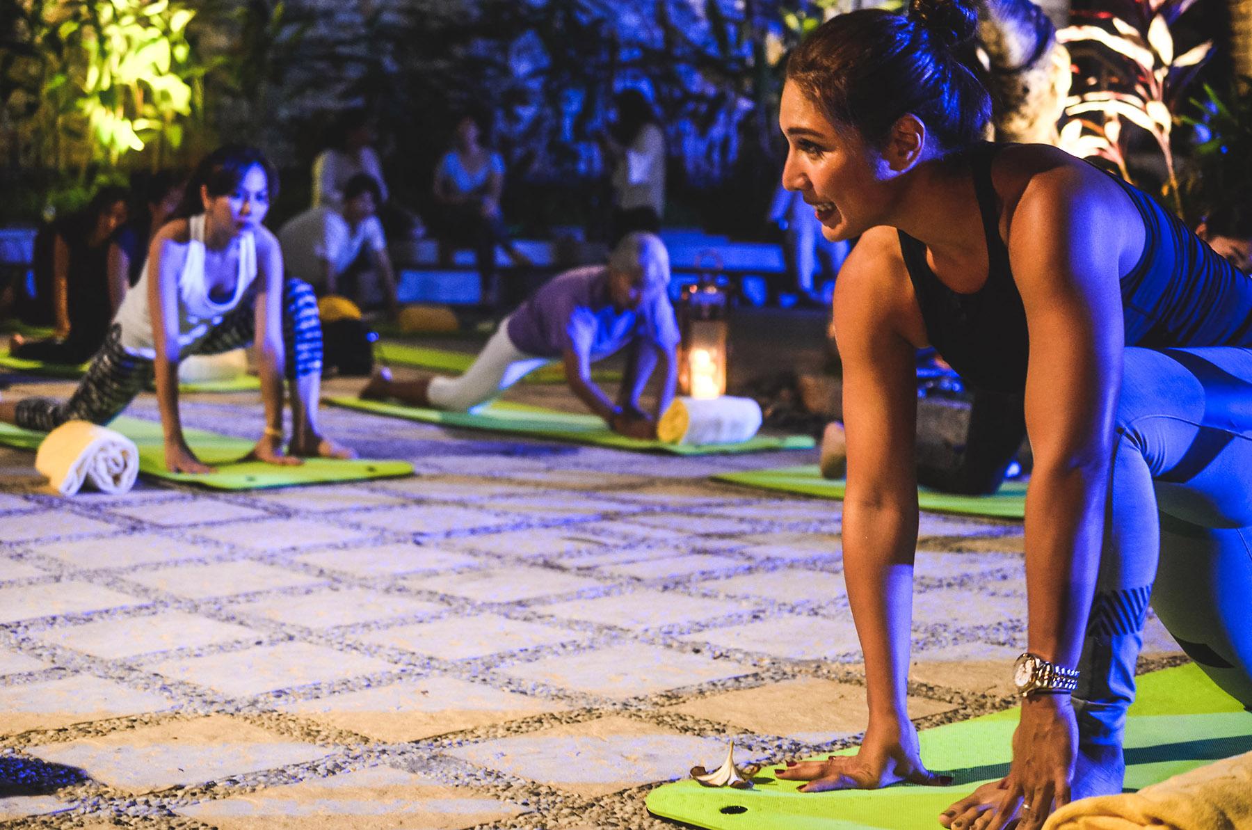 Candlelight yoga led by celebrity yoga instructor, Bubbles Paraiso