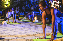 Candlelight yoga led by celebrity yoga instructor, Bubbles Paraiso