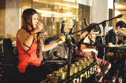 Live ethnic music performed by Manila Sky