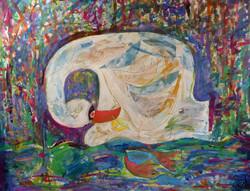 The Swan - Mixed Medai - Just White Art c