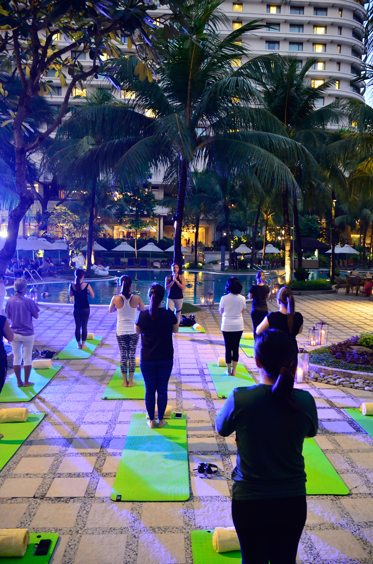 One of the event's highlight was the mindful breathing and candlelight yoga led by Bubbles Paraiso