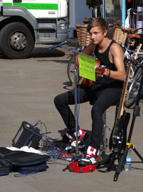 Busking in the summer of 2013