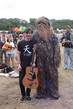 Meeting my idol and insperation at Bestival <3 so blessed