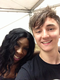 Backstage at the Big Weekend with Heather Small!