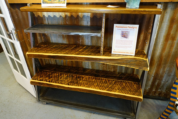 Nutmeg, Cedar and Steel Shelf Unit