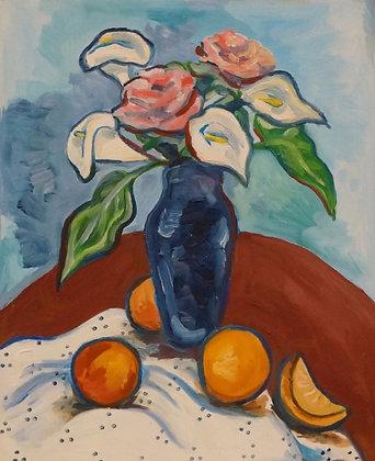 Oranges and Vase