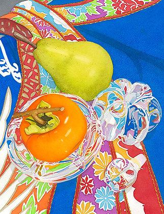 Pear + Persimmon w/ Glass