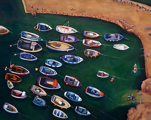 Boats in Cornwall Harbor