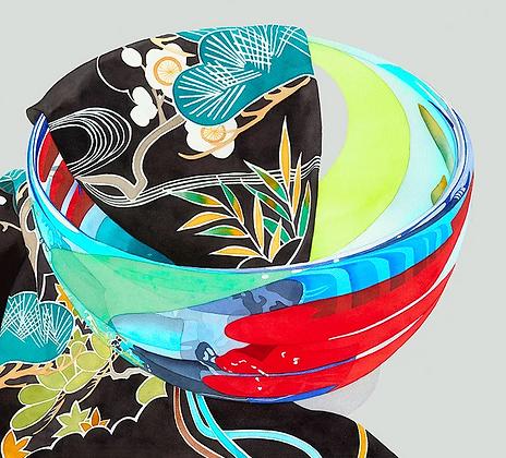 Glass Bowl w/ Kimono
