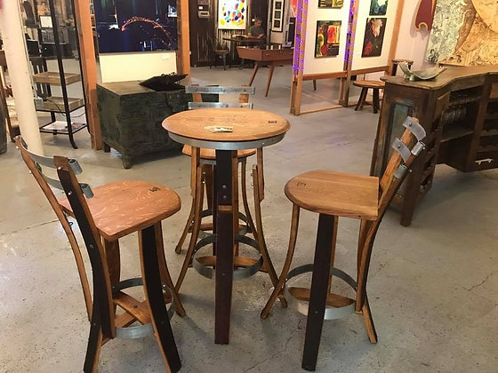 Bistro Table and 3 Bar Stools