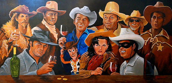 Cowboys in the Tasting Room