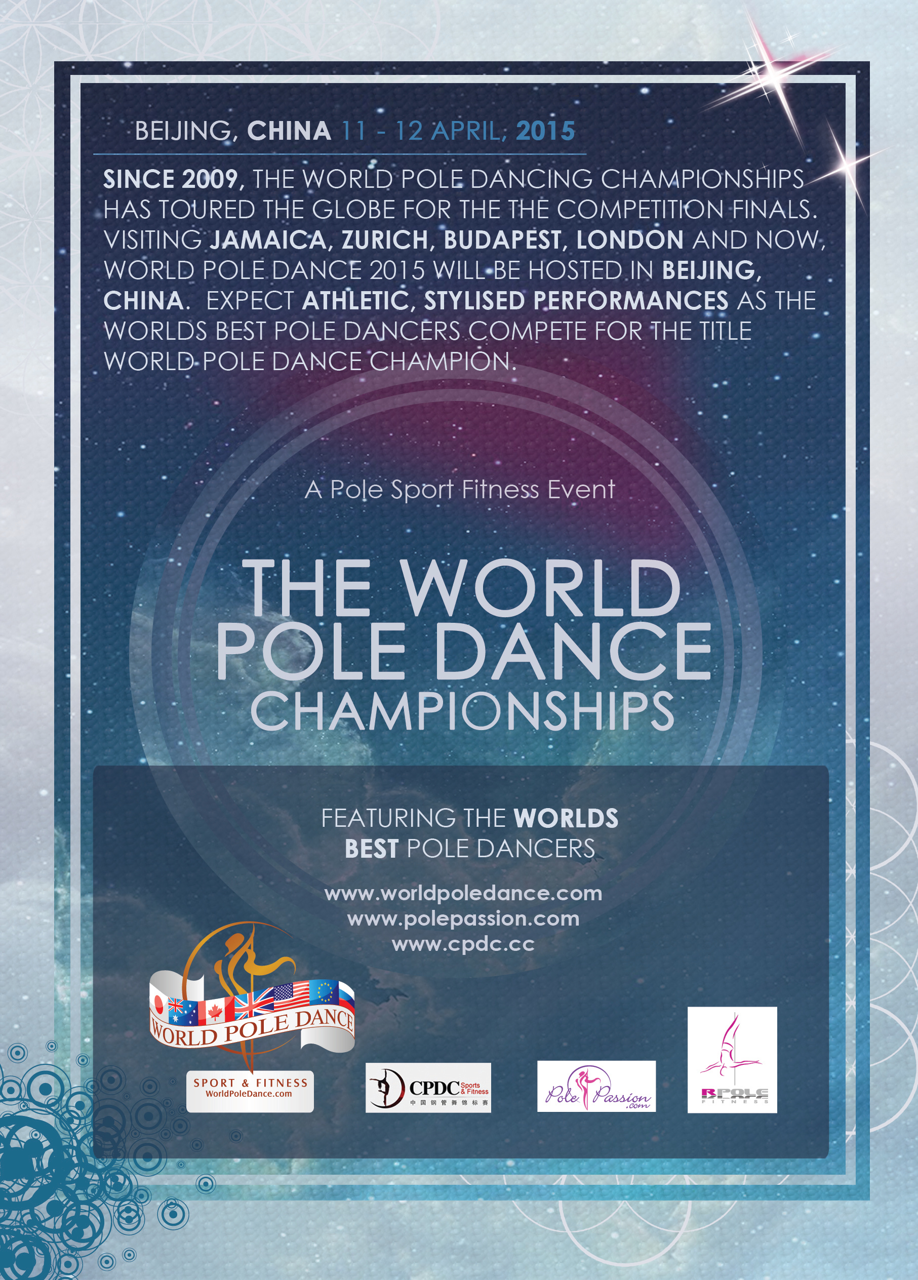 World Pole Dance 2015 FLYER REVERSE