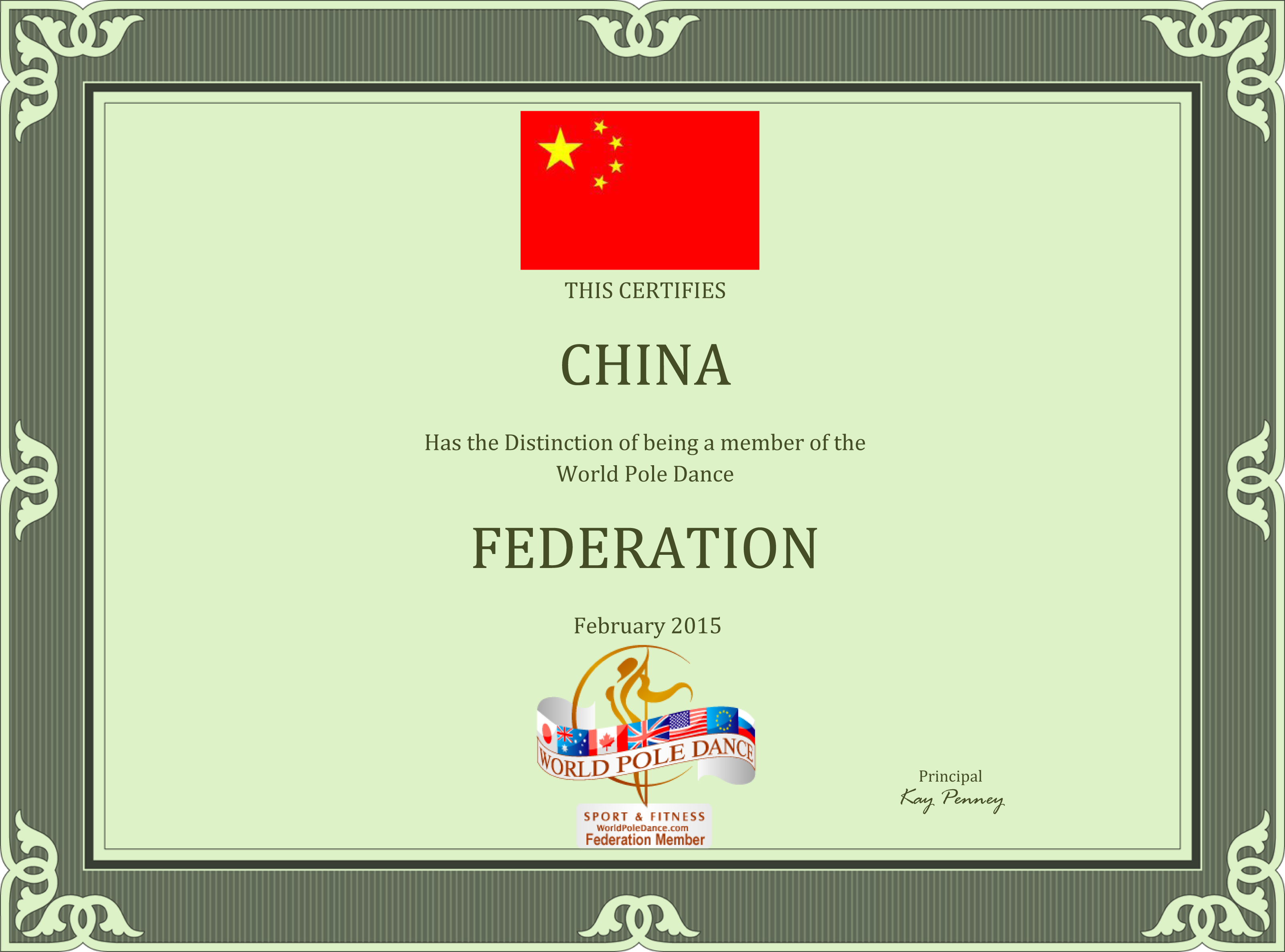 CHINA_World_Pole_Dance_Federation_Certificate