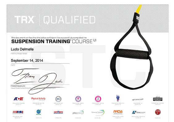 TRX certificaat. Ervaren lesgever.