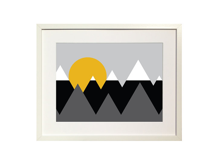 'Snow Capped Mountains' Limited Edition Print