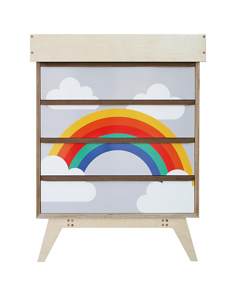 'Rainbow' Chest of Drawers with optional Baby Change Unit