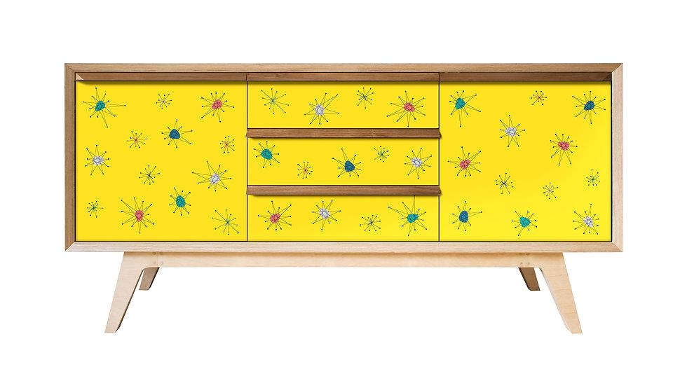 Yellow Atomic Sideboard