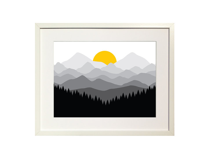 'Mountain Sunset' Limited Edition Print